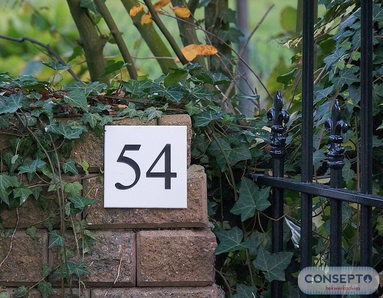 Huisnummer op maat