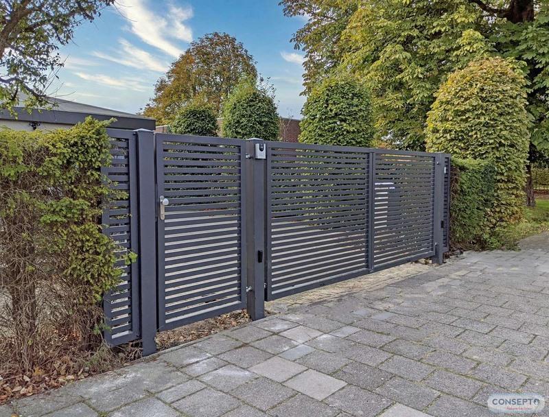 Consepto Hekwerk-Draaipoort design sierhekwerk elektrisch hek poort