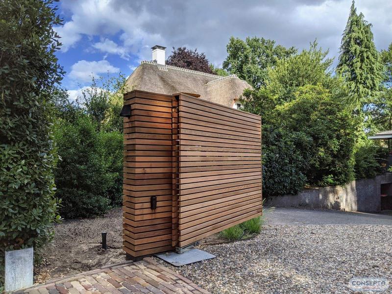 Consepto Hekwerk-Luxe houten poort Red Cedar