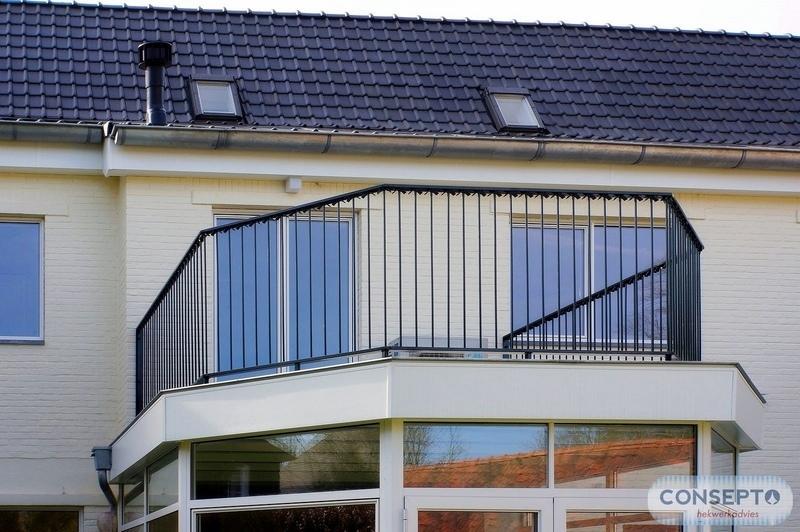 Consepto Hekwerk-Hekwerk Erker dakterras balustrade