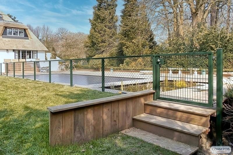 Consepto Hekwerk-Looppoort Dubbelstaafmathekwerk staafmat poort design