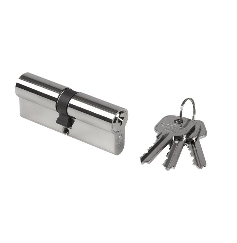 Consepto Hekwerk-Europrofiel ciilinder met sleutels poort