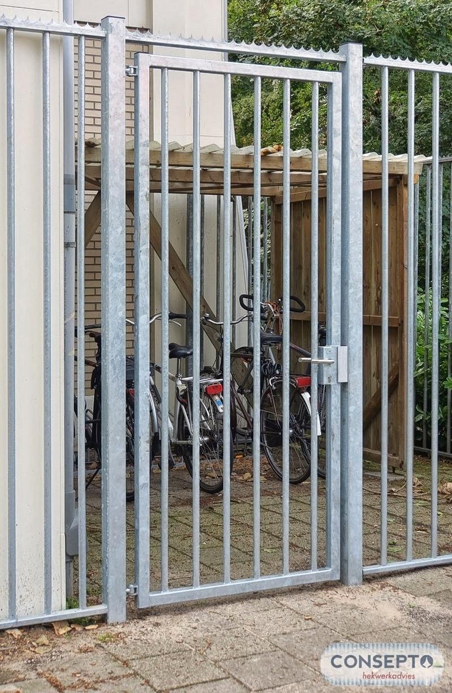 Consepto Hekwerk-Poort afsluiten fietsenstalling diefstal