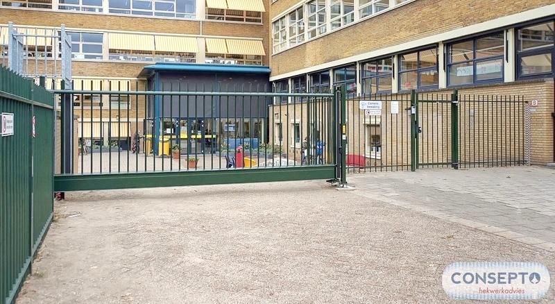 Consepto Hekwerk-Schuifpoort school kindveilig