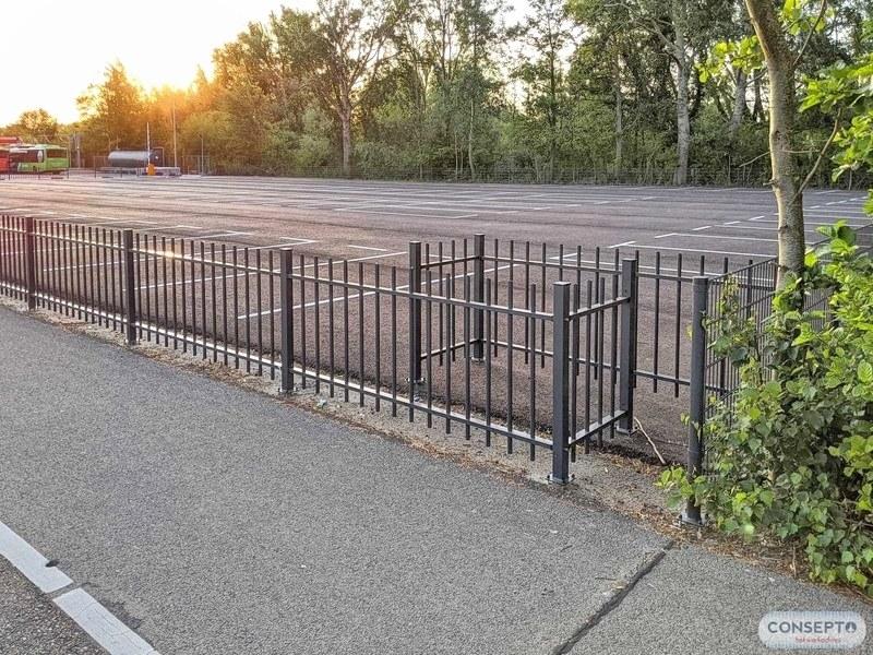 Consepto Hekwerk-Spijlenhekwerk Parkeerterrein Voetgangerssluis