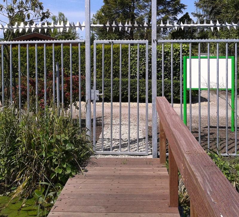 Consepto Hekwerk-Spijlenhekwerk verzinkt scherpe punten park