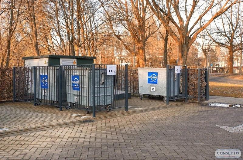 Consepto Hekwerk-Spijlenhekwerk containers school
