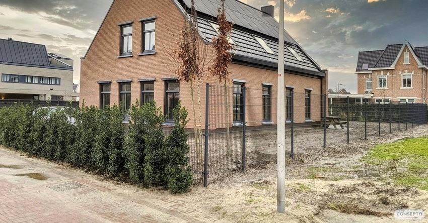 Consepto Hekwerk-Dubbelstaafmathekwerk vrijstaande woning Kavel nieuwbouw