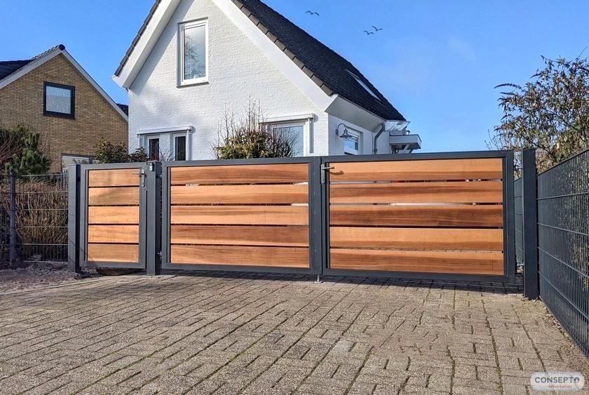 Consepto Hekwerk-Houten poort Red Cedar Design