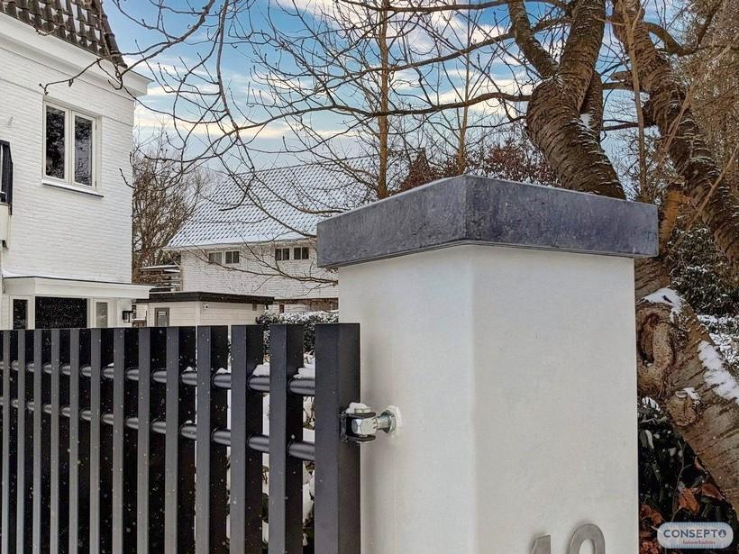 Consepto Hekwerk-Belgisch hardstenen dekplaten kolom poort