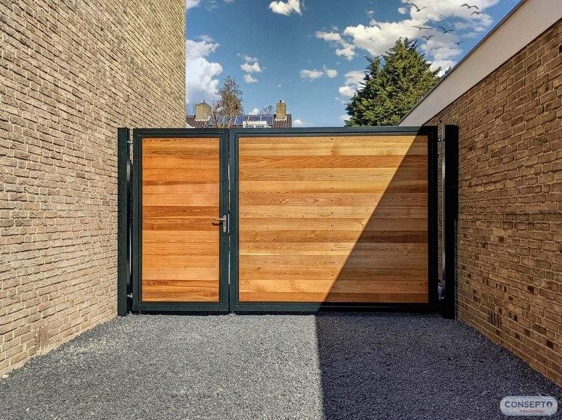 Consepto Hekwerk-Houten poort Red Cedar Privacy