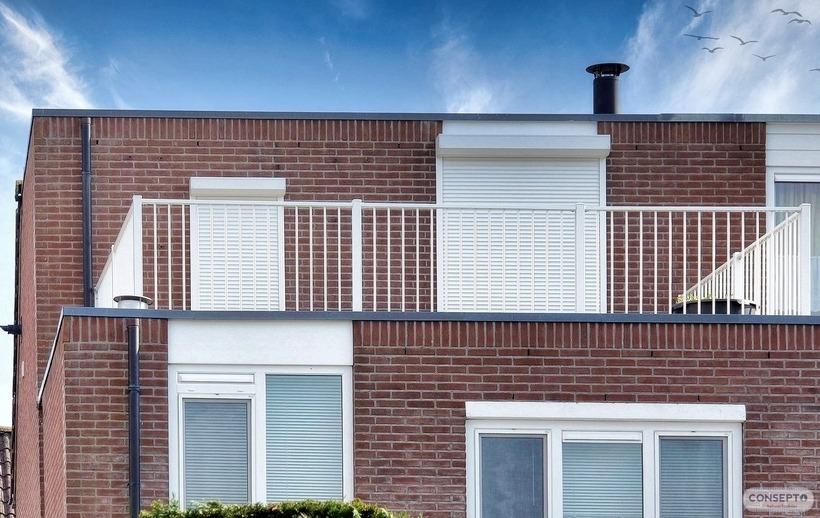 Consepto Hekwerk-Balkonhekwerk Dakterras 1 meter hoog Wit